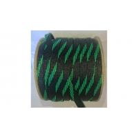 Фото -  Оплетка для кабеля 6/10/12мм (черно-зеленый)